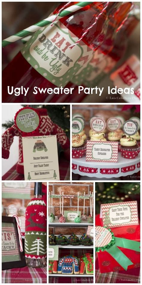 ugly christmas party ideas rewards quot vintage sweater quot drinks