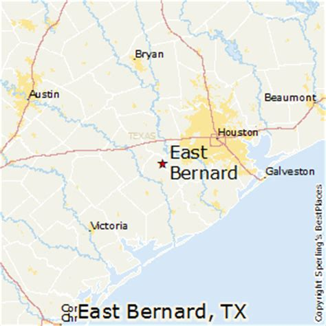bernie texas map best places to live in east bernard texas