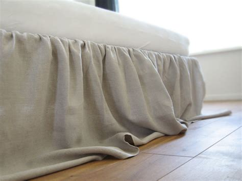 linen bed skirt linen bed skirt queen dust ruffle custom color by