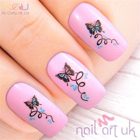 Butterfly Flower Nail Sticker butterfly water decal nail stickers nail uk