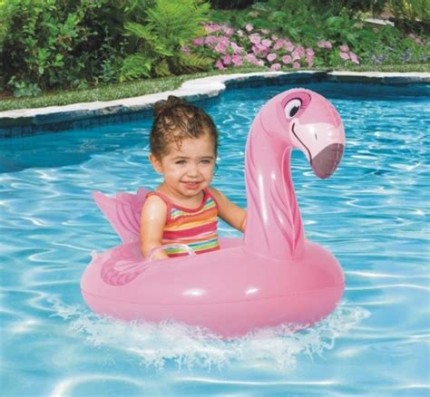 baby boat float halloween christmas gift inflatable pink flamingo ride on