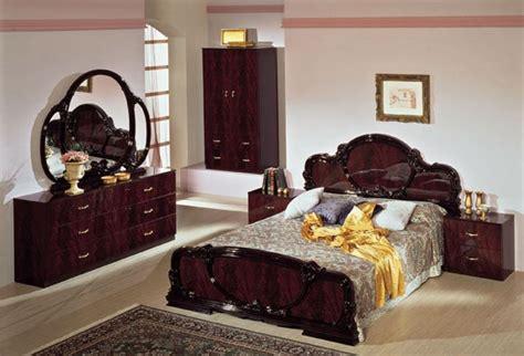 complete set serena mahogany traditional italian bed