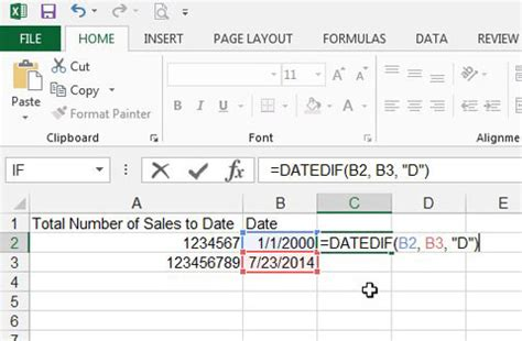 calculator number of days excel formula calculate number of days between dates