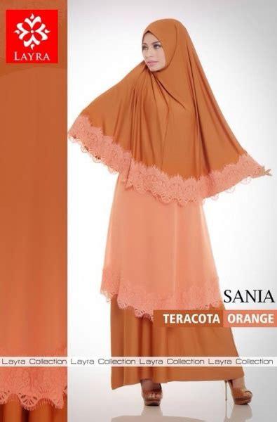 sania by layra teracota orange baju muslim gamis modern