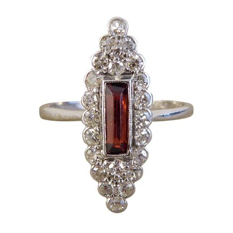 deco garnet ring deco garnet and marquise ring jewellery discovery