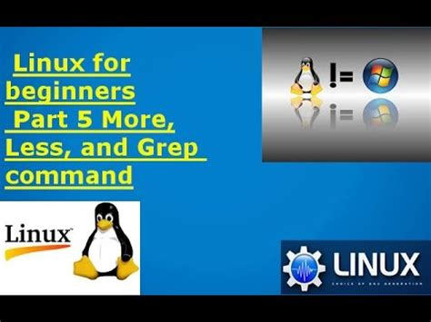 linux less tutorial linux tutorials for beginners part 5 more less and grep