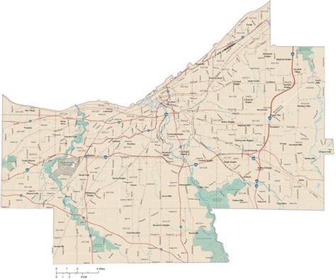 zip code map hton roads cuyahoga county map adobe illustrator vector format with 5