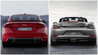 Porsche Vs 2017 Audi Tt Rs Vs Porsche 718 Boxster And 718 Cayman