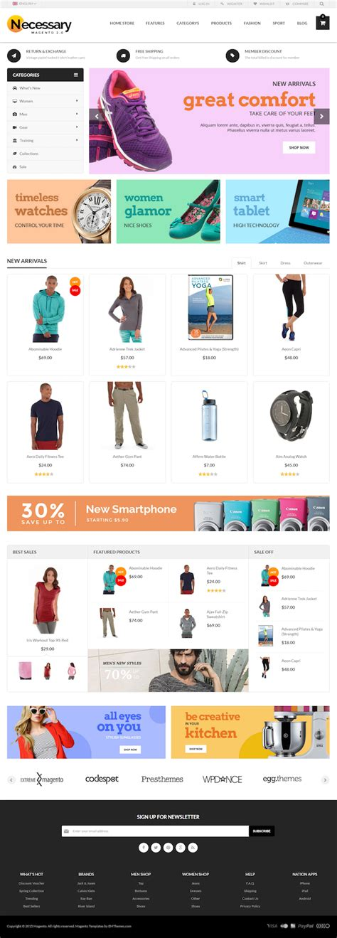 themes editor magento magento themes 100 responsive free and premium