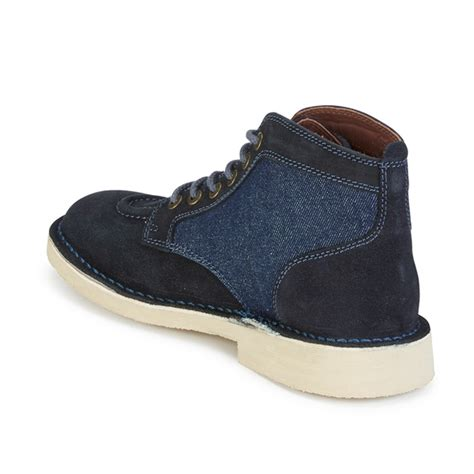 Kickers Boot Black Suede kickers s legendary suede lace up boots blue