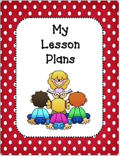 design cover lesson lesson plan book covers and planning template red and