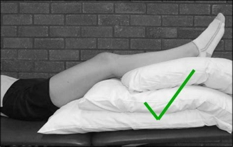 Pillow To Elevate Legs by Reducing Post Operative From Hip Replacement