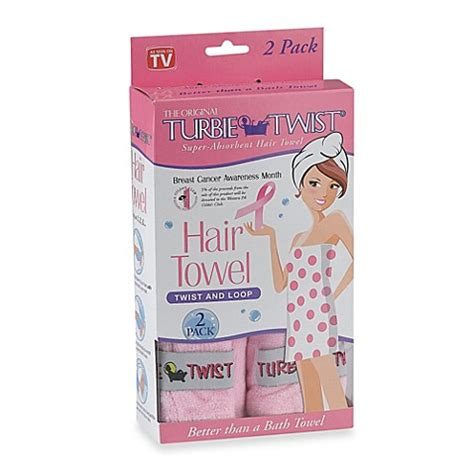 Turbie Twist Hair Towel the original turbie twist 174 absorbent hair towel in pink set of 2 bed bath beyond