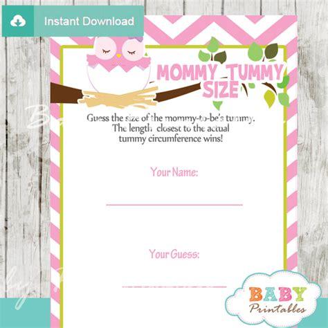 pink owl baby shower games bundle d123