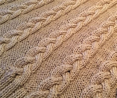 braided cable knit pattern cable afghan knitting patterns in the loop knitting