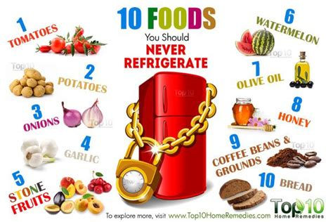 10 best foods 10 foods you should never refrigerate top 10 home remedies