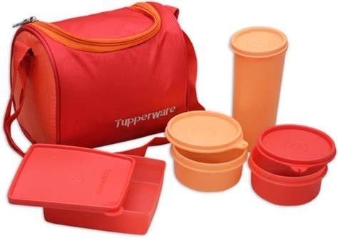 Tupperware Square Away Tumbler Biru flipkart tupperware tp 187 4 containers lunch box