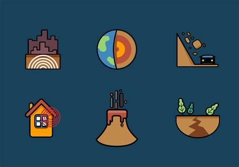 earthquake vector vector earthquake icon set download free vector art