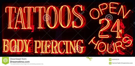 tattoo shops open 24 hours neon sign stock photo cartoondealer 2678070