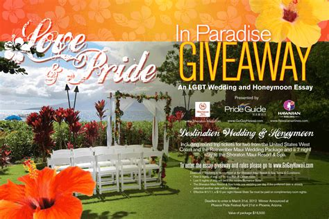 Gay Pride Giveaways - the love and pride in paradise giveaway go gay hawaiigo gay hawaii