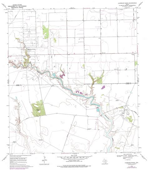 ranch texas map laureles ranch topographic map tx usgs topo 27097e5