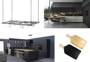 Awesome Poubelle Design Cuisine #7: Cuisine-noire-chic-contemporaine.jpg