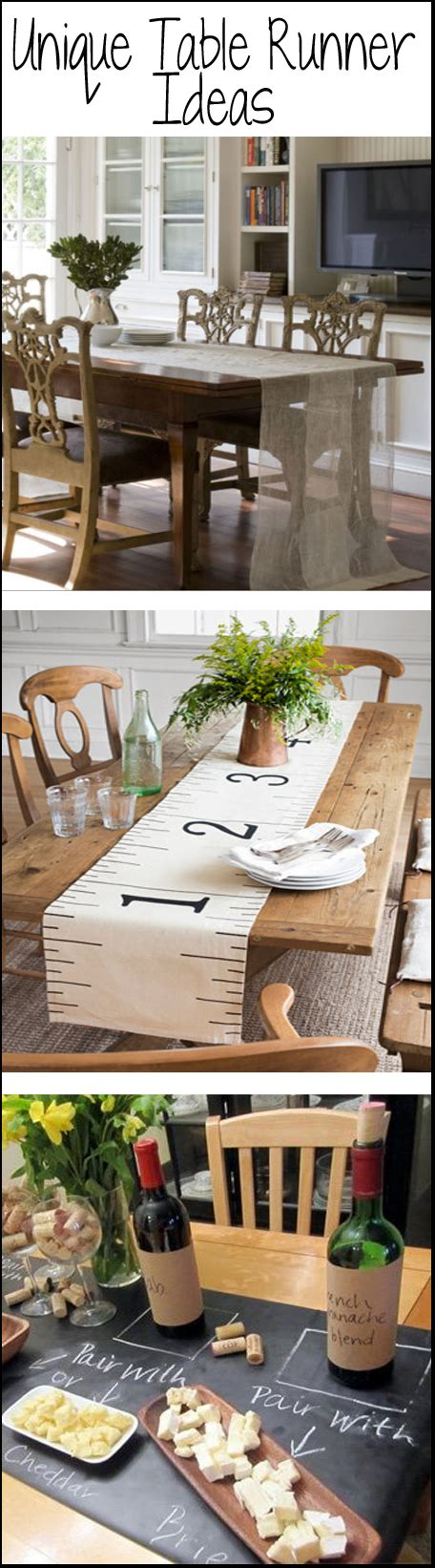 Table Runner Ideas by Unique Table Runner Ideas