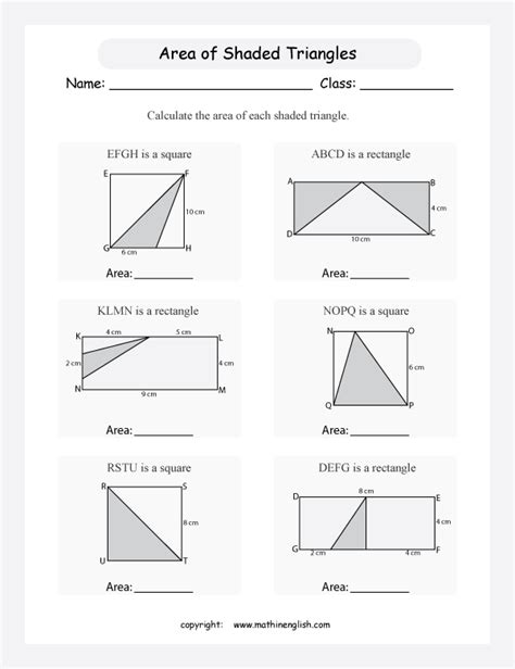 printable math worksheets triangle area area of triangle worksheet lesupercoin printables worksheets