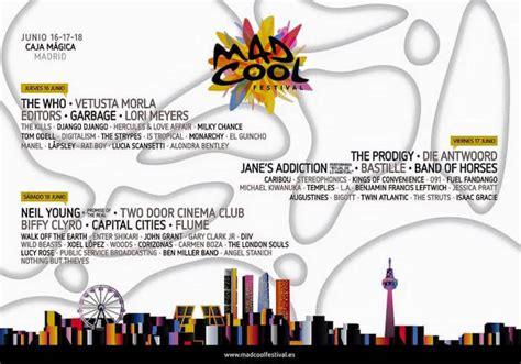 mad coll mad cool festival cartel entradas horarios