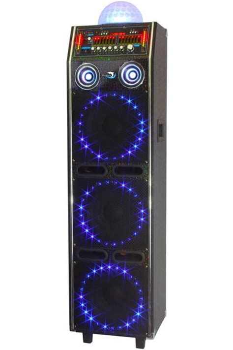 """Dolphin SP 54BT   3x10"""" Party Speaker with Disco Lights"""