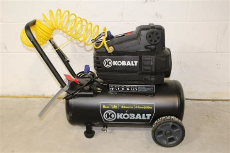 kobalt 8 gal air compressor property room