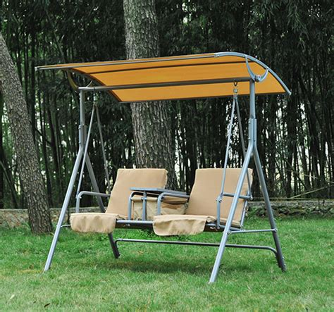 patio swing with stand outsunny 2 person outdoor patio porch swing double seat
