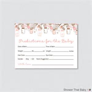 guess the weight of the baby template jar baby shower prediction cards instant
