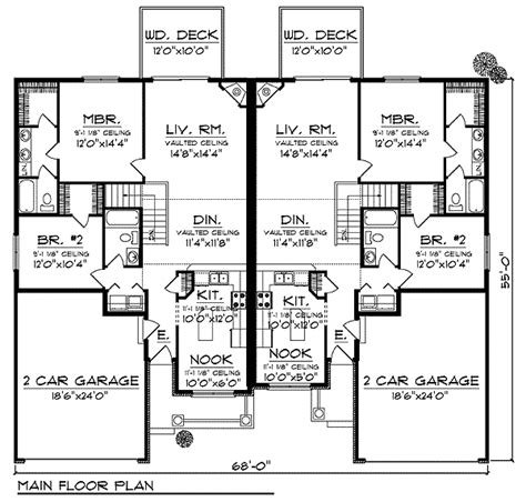 duplex townhouse plans plan 89294ah duplex home plan with curb appeal the two