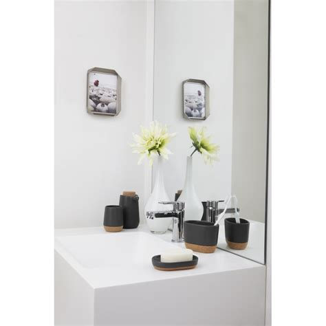 umbra bathroom accessories umbra kera bathroom collection in white and cork from black by design