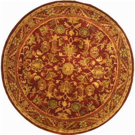 Safavieh Antiquity Wine Gold 8 Ft X 8 Ft Round Area Rug 8ft Rugs