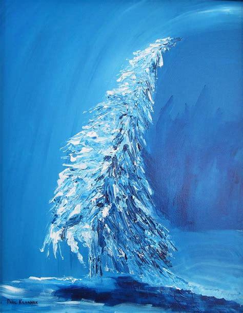 icy blue icy blue painting by paul kilyanek