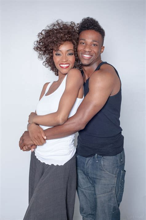 whitney houston biopic how yaya dacosta became the singer photo who will play whitney houston and bobby brown in