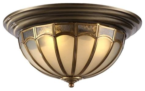 antique brass dome shaped flush mount ceiling lighting