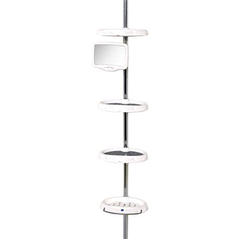 Bathroom Pole Rack Corner Tension Pole Caddy Rack Holder Shelf Shower Bathtub