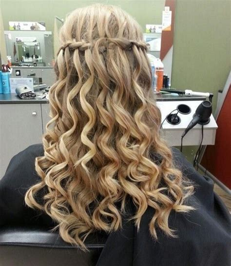 homecoming hairstyles waterfall braid 15 best long wavy hairstyles popular haircuts