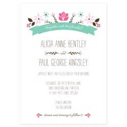 folksy floral invitation sle crafty pie press