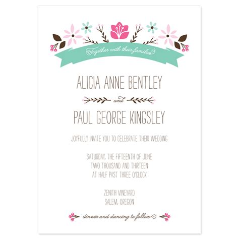 template wedding invitation sle wedding invitation ideas