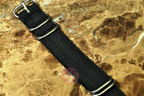 nato zulu 20mm black leather sansom watches