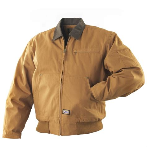 large jackets big smith 174 work jacket brown duck 156308 insulated jackets coats at sportsman s