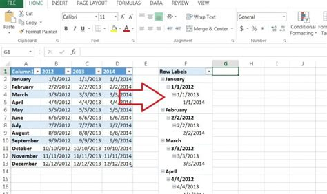 Pivot Tables In Excel 2013 by How To Create A Pivot Table Timeline In Excel 2013