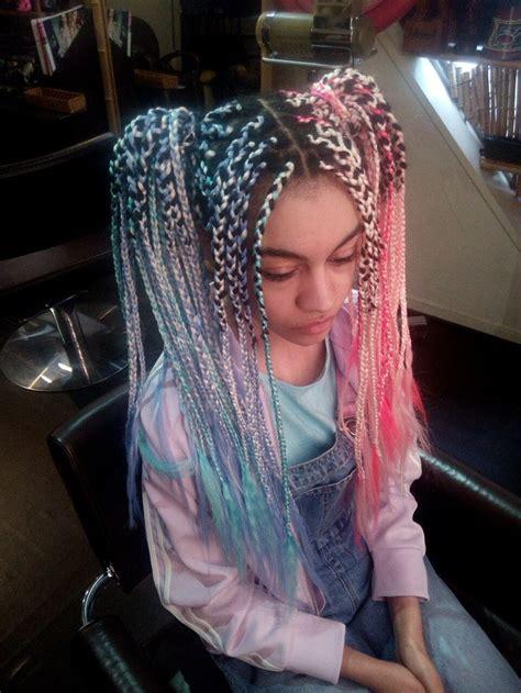 choom chan split hair creative hairstyles braided