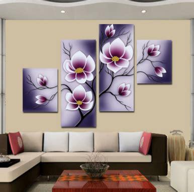 contoh lukisan hiasan dinding ruang tamu minimalis