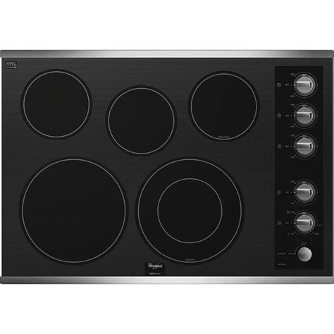 Whirlpool Electric Range Knobs by Whirlpool G7ce3055xs 30 Quot Smoothtop Electric Cooktop With 5