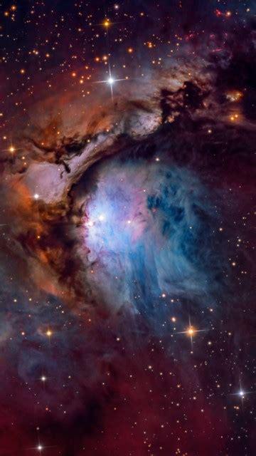 wallpaper orion nebula constellation stars  space